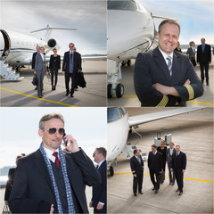 executive business team corporate jet - business travel