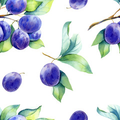 A seamless plum pattern