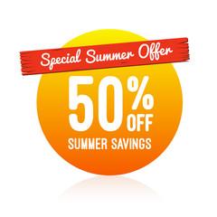 Special Summer Offer 50% Off Label