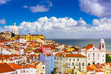 Printed roller blinds Mediterranean Europe Alfama Lisbon Cityscape