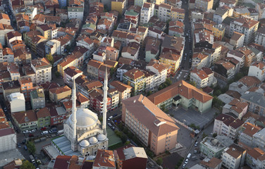 Turkey, Istanbul, view over Levent from the Sapphire of Istanbul
