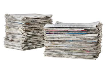 Zwei Zeitungsstapel