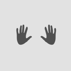 hand on grey vector
