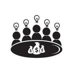 Meeting Business icon, people symbol illustration