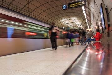 Bilbao underground station, Spain.