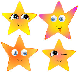 Funny, funny, smiling stars