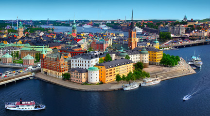 Acrylic Prints Northern Europe Panorama of Stockholm, Sweden