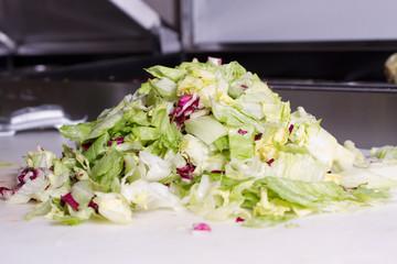 Salat stücken,