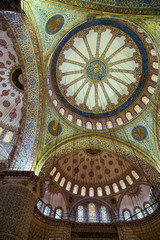 Interior of the Blue Mosque, Istanbul. Turkey