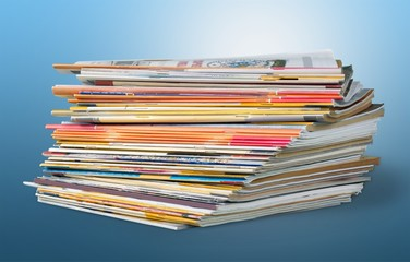 Magazine, stack, pile.