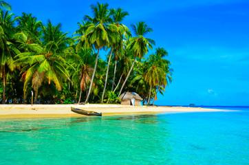Paradise tropical beach at beautiful island