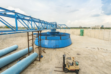 construction site of water treatment plant