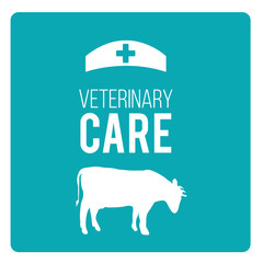 Veterinary Care Pets illustration over color background