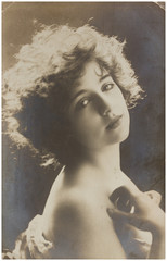 Vintage photo of  young woman