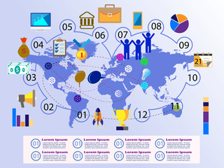 Advanced concept of Global Successful Business Concept