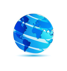 World map earth globe logo