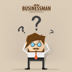 Businessman confused,Vector EPS10.