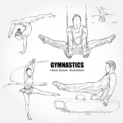 illustration of gymnastics