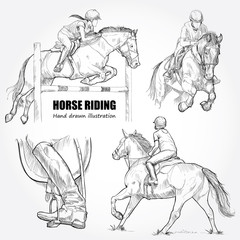 illustration of horse riding.
