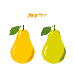 Juicy Pear Fruit on a White Background