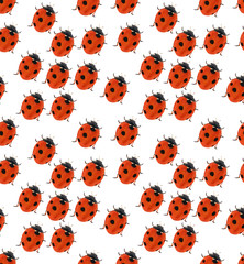 seven ponts red ladybug seamlesse background