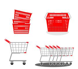 買い物かご、ショッピングカート、買い物、スーパーマーケット