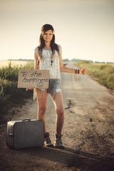 Traveler hippie girl