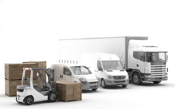 Transporte internacional de mercancías por carretera. Flota de vehículos