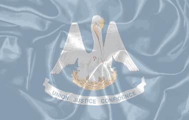 Louisiana State Silk Flag