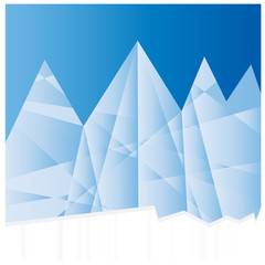 Icy mountains