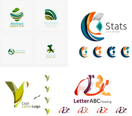 Universal abstract geometric shapes - business emblems