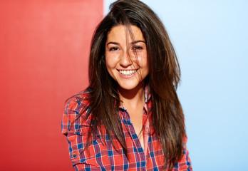 brunette smiling woman