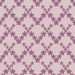 July 4, seamless star pattern American