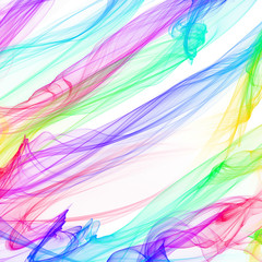The magical form of rainbow smoke. abstract background
