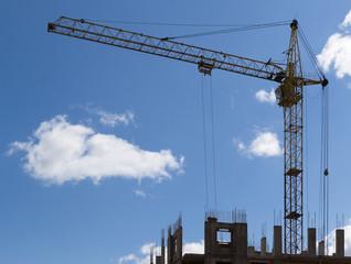 Construction Crane Hauling Cement