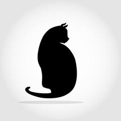 Cat silhouette stylized