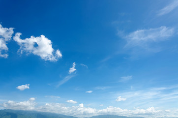 white clouds with blue sky background, beautiful sky