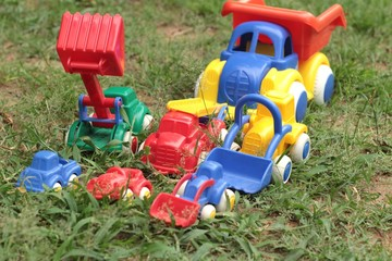 Toy cars are available for children.