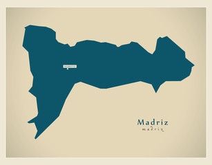 Modern Map - Madriz NI