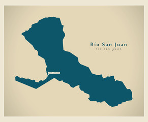 Modern Map - Rio San Juan NI