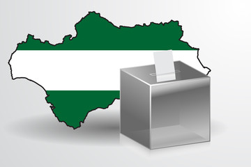 Andalucia elections vector