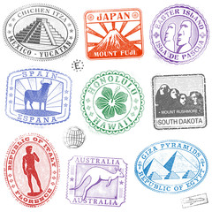 vector Monument Stamps