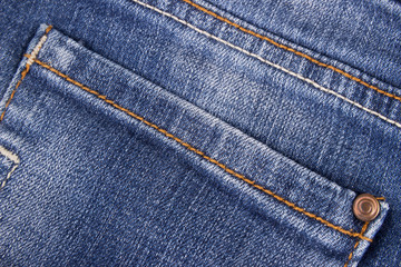 close up of jeans texture with pocket