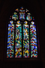 Window in interior of church Bremen Cathedral