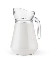 Glass jug milk