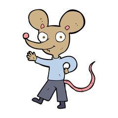 cartoon waving mouse