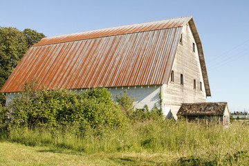 Old barn in the countryside.
