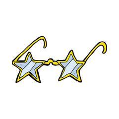 cartoon star glasses