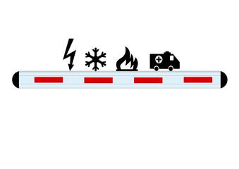 Leitplanke / Unfall Symbole