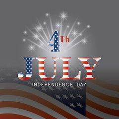 independence day card design.